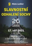 Slavnostní odhalení sochy ke 20. výročí města 1